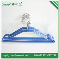 anti slip pvc electrical chromed wire clothes hangers for laundry