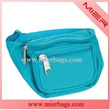 light blue OEM kids fashionable 600D polyester hip bag for sports