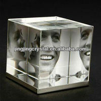 Decoration Wedding Glass Rahmen Insert Three Picture Crystal Photo Frame
