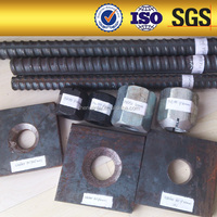 Prestressing High Strength Twisted Steel Tensioning Anchor Nut and Plate for Steel Bars