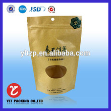 new style brown paper bag with window/kraft paper bag with clear window