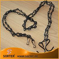 black chain hanging plant holder