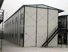 Economy fast assembling recyclable steel frame prefabricated house