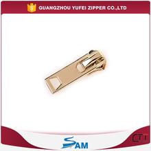 light gold slider for metal zipper