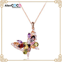 Ladies suits lace design handmade felt necklace with Butterfly Shape Jewelry neckace of best Friend necklace for women