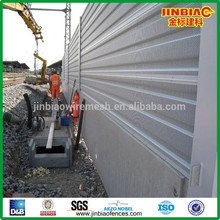la prueba de fuego de la hoja de aluminio barrera acústica proveedor chino
