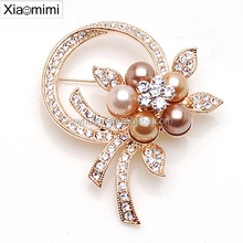 Low-cost factory direct explosion models pearl diamond flower brooch
