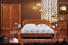 elegante y de lujo de oro champagne set dormitorio