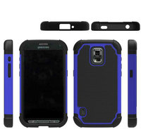 For Samsung GALAXY S5 Active(G870) shell , Football Pattern Cover 2in1 Dual-color Detachable TPU+PC Protective Mobile Phone Case