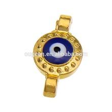 baratos turco de última moda mal de ojo conector con diamantes de imitación