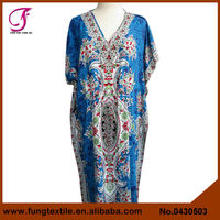 0430503 Women Long Design Cotton Floral Wedding Kaftans
