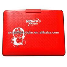 7'' rotatable multifunction portable dvd with card