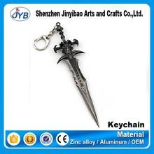 hot sale type dota 2 metal sword shape keychain