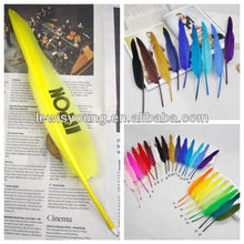 Promotional feather lot pens pink feather pen