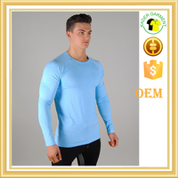 wholesale tight fit long sleeve t shirt for man