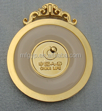 2015 factory price gold plated metal souvenir medal