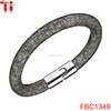 Hot Sale Men Women Fashion Shiny Stardust Crystal Wrap Magnetic Clasp Mesh Bracelet