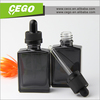 Black frosted 30ml rectangular shape glass e liquid empty bottle with childproof dropper---Stock 2 days delivery