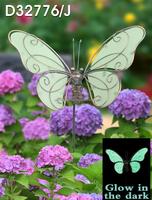 glow in dark metal luminous butterfly sticks garden dragon owl ladybug glitter stick window decoration butterfly pot hanger