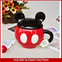 mickey shaped own design cute ceramic cup