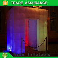free shipping remote control 16colors inflatable 3d photo booth for wediing