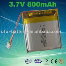 3.7v 800mAh Li Polymer Rechargeable Battery Pack