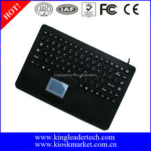 Waterproof silicone wired mini keyboard with touchpad
