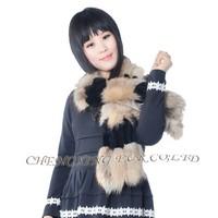 CX-S-16A New High-grade Thermal Rex Rabbit Scarf / Rex Rabbit Fur Scarves