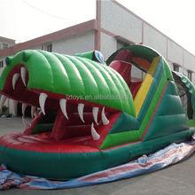 kiddie inflatable slide , NO.1460 adult lake inflatable slide pool