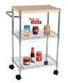 3 tier Mobil carrito de cocina mejor cocina muebles para una pequeña cocina