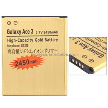 2450mAh High Capacity Business Replacement Gold Battery For Samsung Galaxy Ace 3 S7275 GT-S7260 GT-S7262 GT-S7270 GT-S7270L
