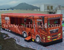 High quality inflatable fire truck, outdoor inflatable bouncers for sale A3081