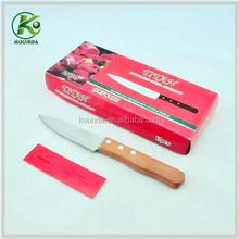 2015 bulk cheap wooden handle knife/blade knife