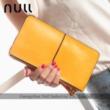 Elegance ladiese purses yellow genuine leather travel wallet
