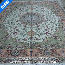8x10ft Persian design carpet hand made wool flowers rug