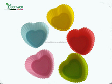 heart shape silicon cake cup and cupcake mould