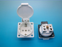 waterproof industrial plug with round cover with TUV certificate