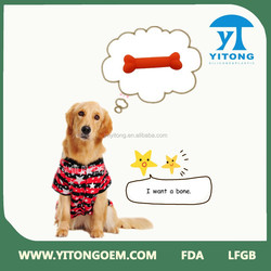 Best selling FDA/LFGB silicone dog chew bone toy