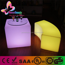 2015 guangdong new products plastic led lighting cube table plastic bar table on sale
