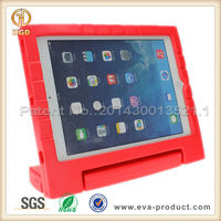For iPad Dust Proof Case for ipad tablet for Kid Safe Soft Foam Case Red