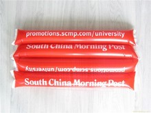 PE colorful inflatable sticks / inflatable noise sticks / inflatable cheering sticks