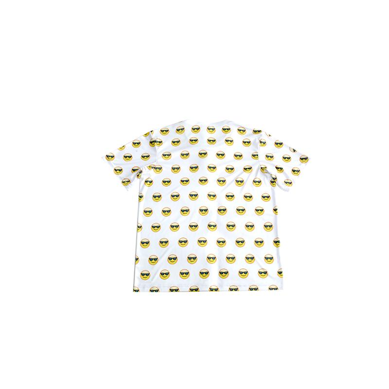 Hot chất lượng in casual T shirt đối với teens/smiley T-Shirt