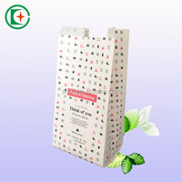 Clear window food grade bread packaging paper bag