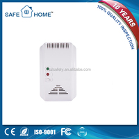 AC110-270V stand alone kitchen cooking gas leak detector with solenoid valve