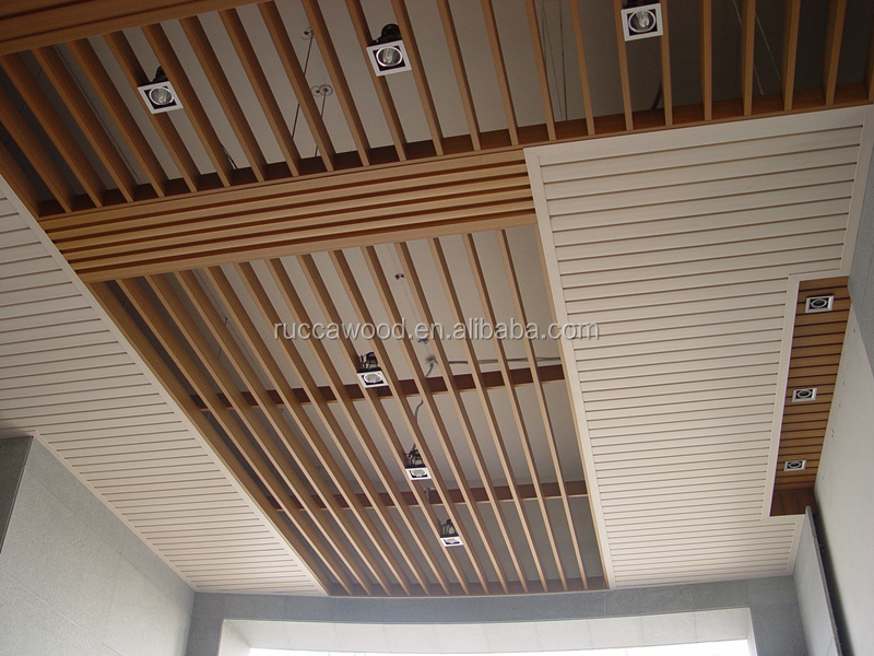 Wpc Wooden False Ceiling Design For Gym 80 25mm China