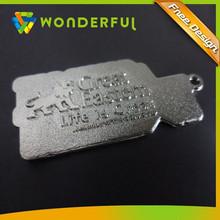 Cheap Wholesale Custom Shape 3D Embossed Logo Pet Tag Metal Dog Tag
