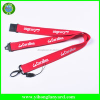 Cheap Custom printed lanyard with buckle for promotion, ID card holder lanyard