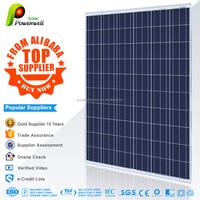 Powerwell Solar 250watt PV Solar Panel Price With CE/IEC/TUV/ISO/INMETRO/CHUBB Approval Standard Panels Solars