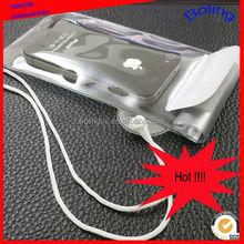 2015 new design hot salling transparent PVC waterproof phone bag