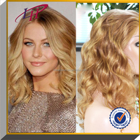 Cheap price wholesale body wave blonde Indian remy human hair full lace wigs
